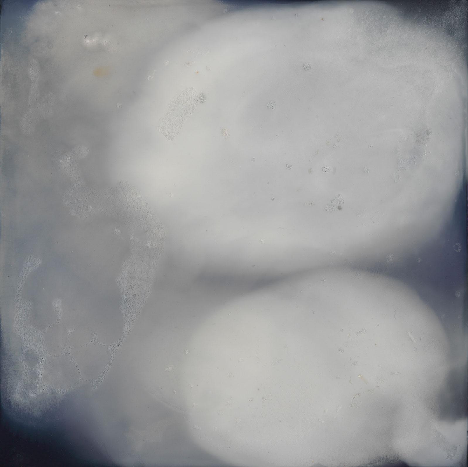 CATHERINE WOO   Liquid Sky 3  2017 mixed media on composite 60 x 60 cm Photograph: Simon Cuthbert