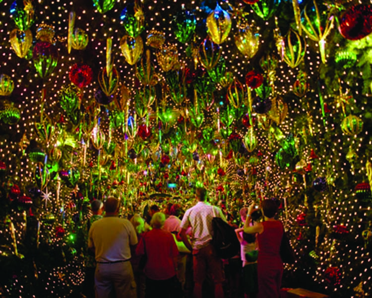 Anne Zahalka,  Santa's Kingdom Christmas Tunnel, Fox Studios, Sydney,  2004, light-jet print, Type C, 115 x 145 cm.