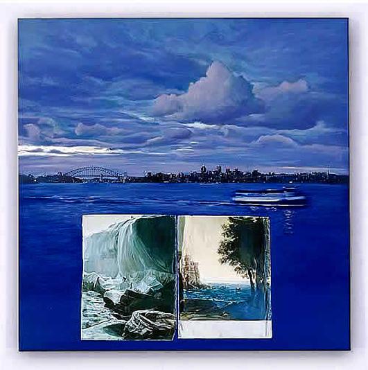 LYNDELL BROWN & CHARLES GREEN   Entropic Landscape  2005 Lightjet print on duraclear film 104 x 104 cm