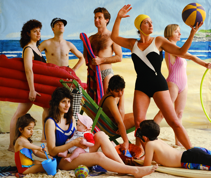 Anne Zahalka,  The Bathers , 1989, from the series  Bondi: Playground of the Pacific , chromogenic print, 95 x 112cm.