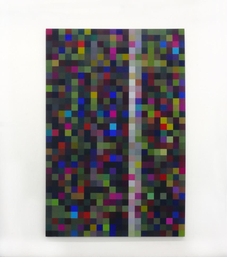 Robert Owen,  Nocturne , 2018, synthetic polymer paint on linen, 260 x 187cm.
