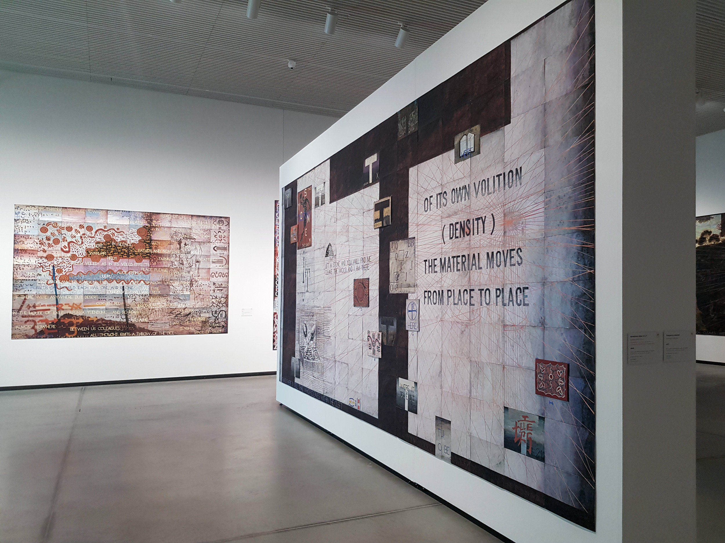 Imants Tillers, Installation,  Journey to Nowhere , 2018.