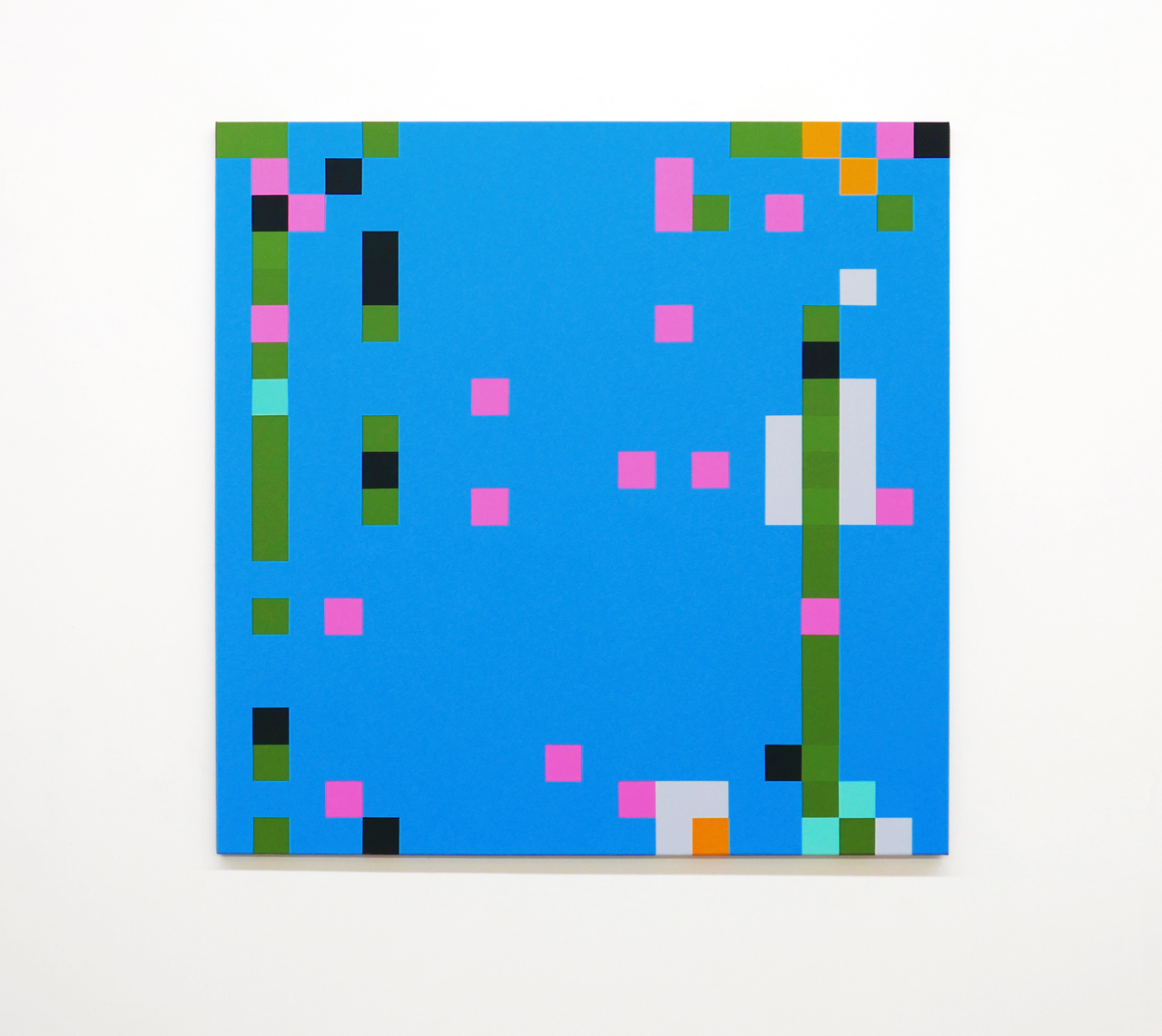 ROBERT OWEN   Out of the Blue #8  2014 - 2016 Synthetic polymer paint on canvas 122 x 122 cm