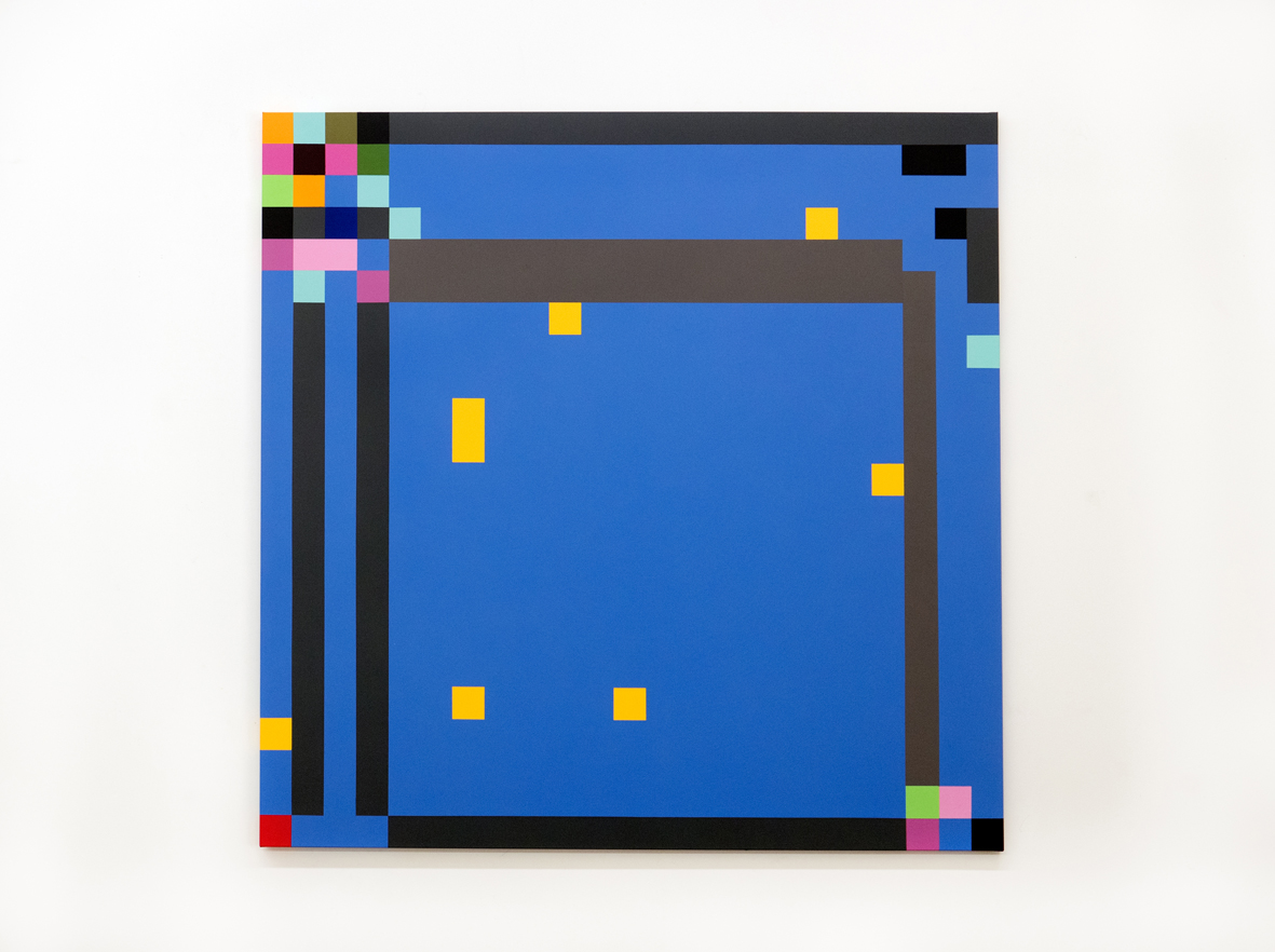 ROBERT OWEN   Out of the Blue #16  2016 - 2018 Synthetic polymer paint on linen 122 x 122 cm