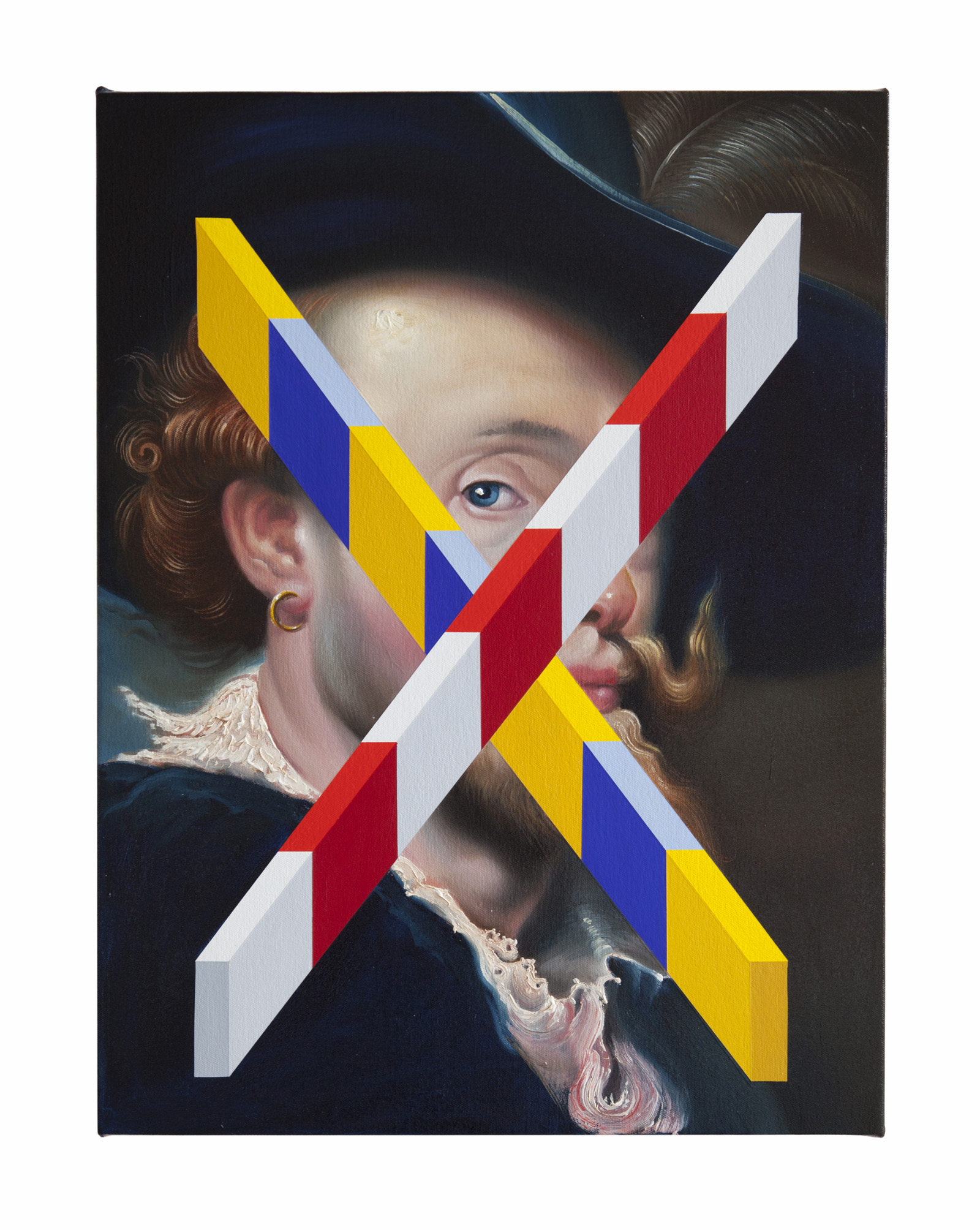 PETER DAVERINGTON   Madison Avenue  2018 Oil and acrylic on canvas 61 x 46 cm