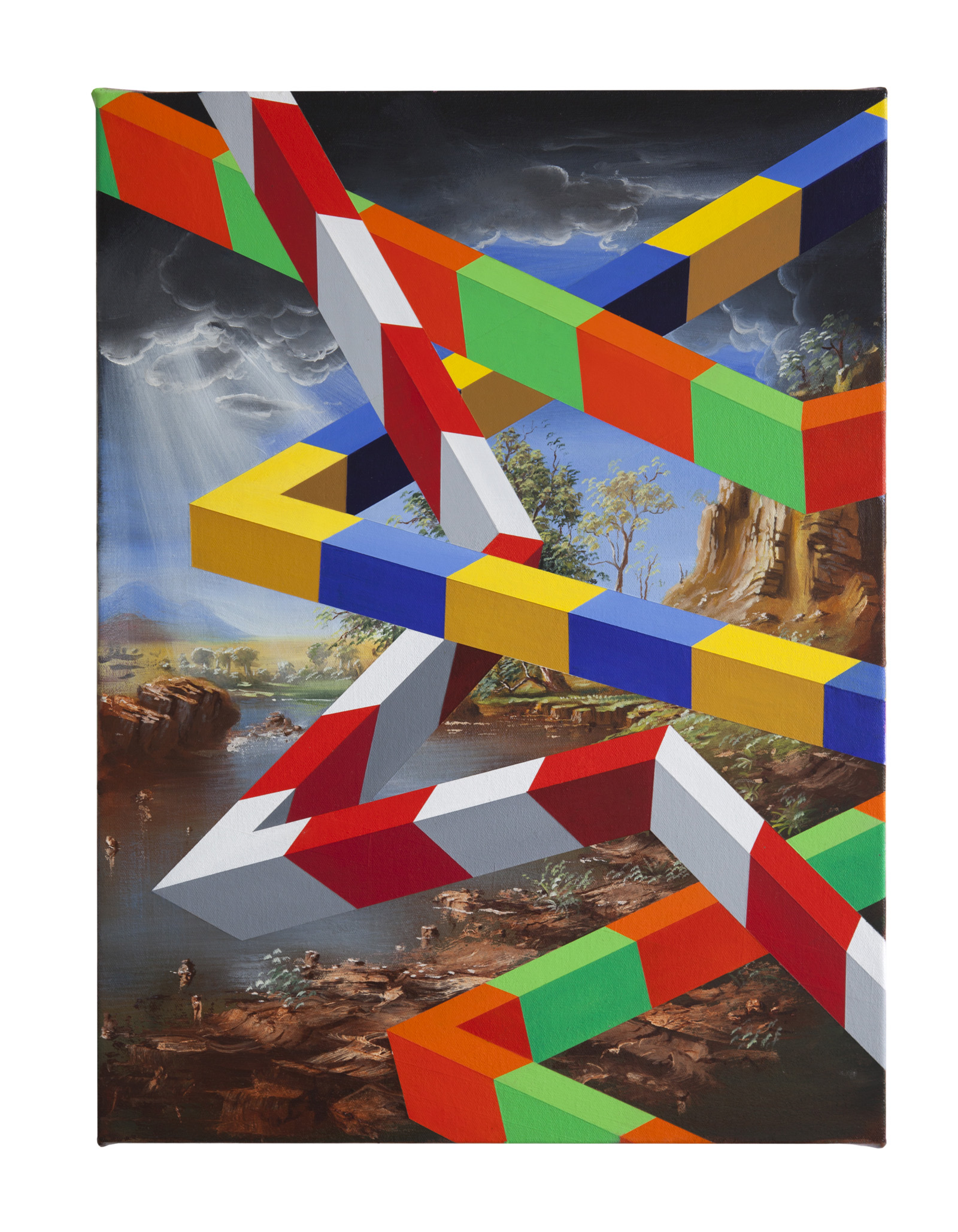 PETER DAVERINGTON   TriBeca  2018 Oil and acrylic on canvas 61 x 46 cm