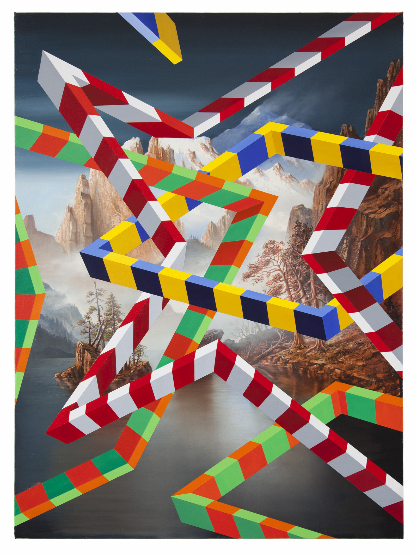 PETER DAVERINGTON   Pailsades  2018 Oil and acrylic on canvas 122 x 91 cm