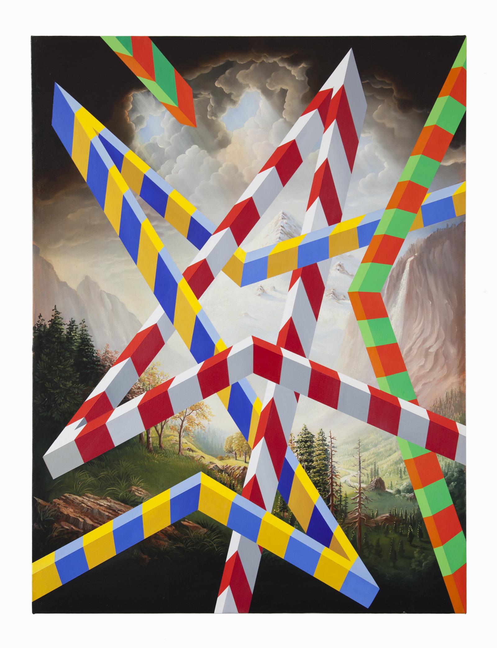 PETER DAVERINGTON   Park Avenue  2018 Oil and acrylic on canvas 122 x 91 cm