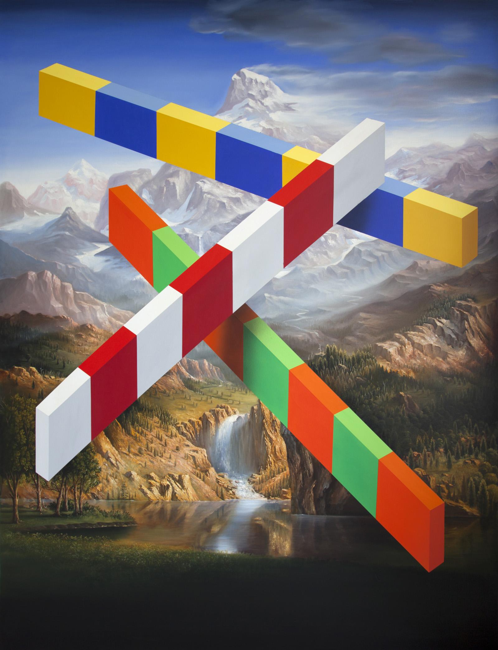 PETER DAVERINGTON   The Bowery  2018 Oil and acrylic on canvas 260 x 198 cm