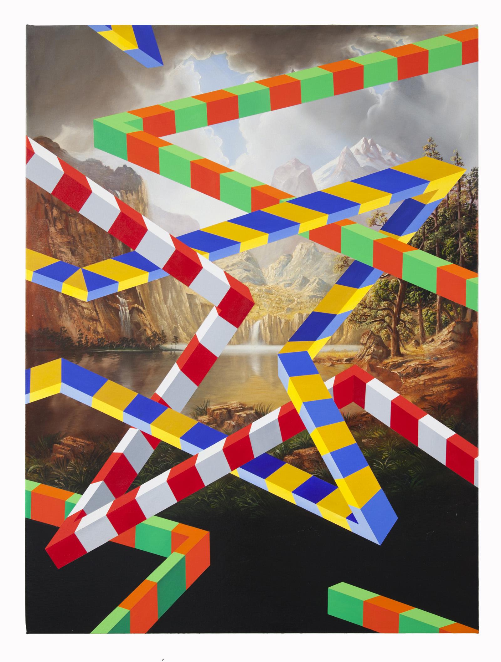 PETER DAVERINGTON   The Taconic  2018 Oil and acrylic on canvas 122 x 91 cm
