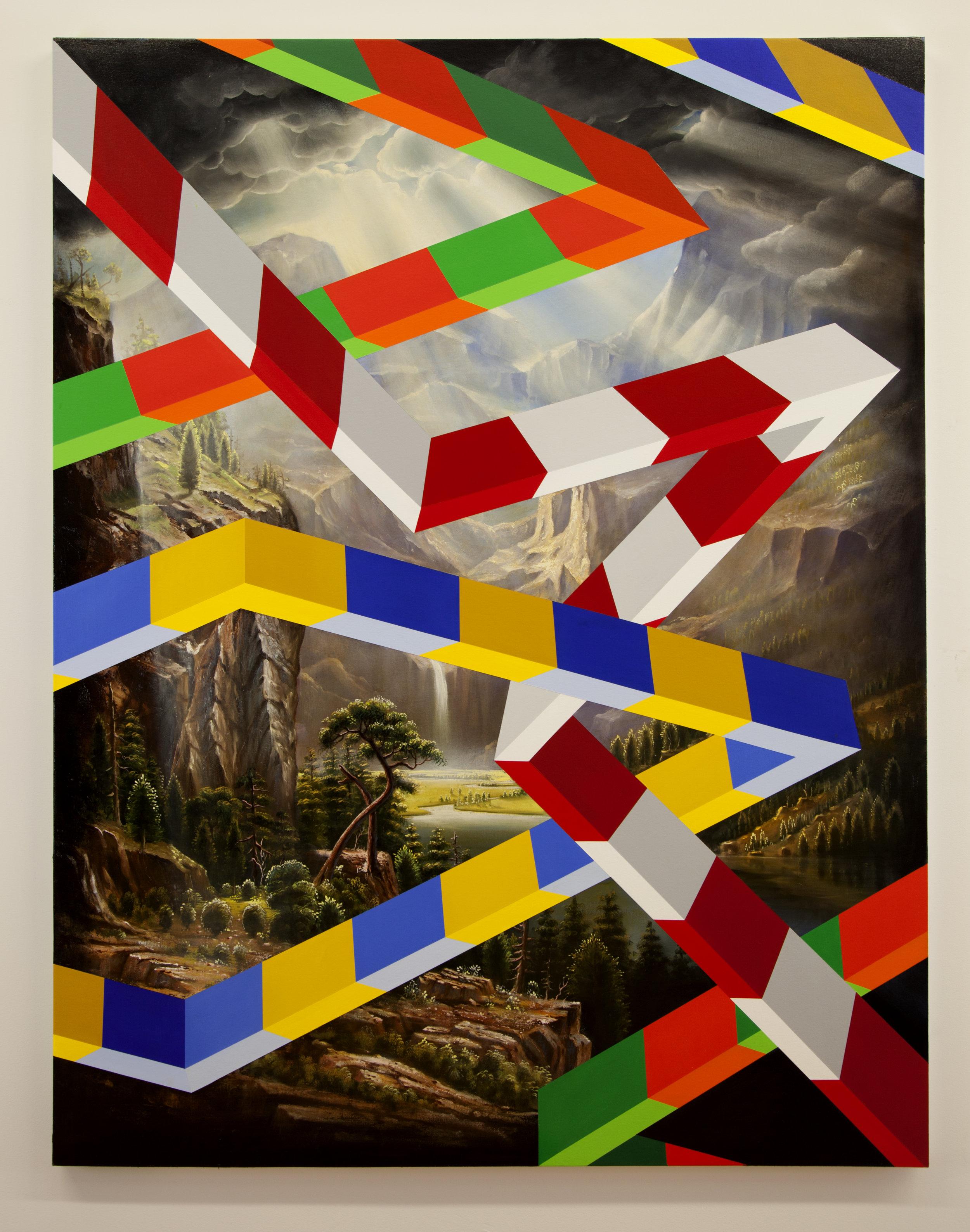 PETER DAVERINGTON   Five Points  2018 Oil and acrylic on canvas 183 x 154 cm