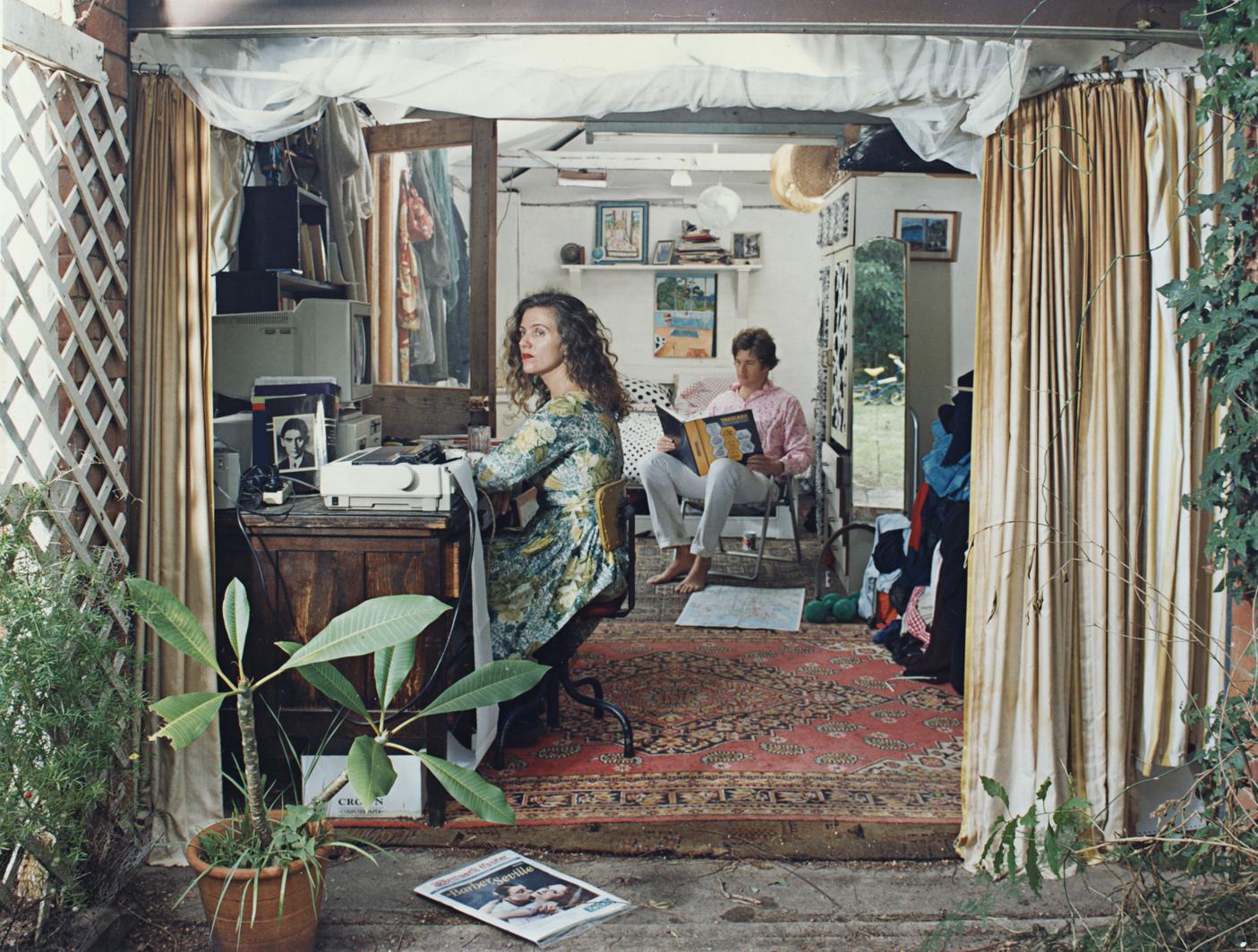 ANNE ZAHALKA   Monday, 11:48 am  1995 Duratran and Lightbox 125 x 176 x 25 cm