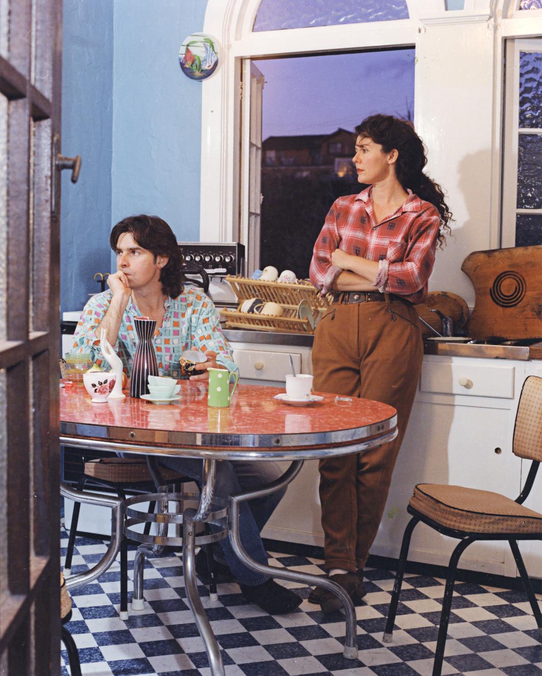 ANNE ZAHALKA   Saturday, 05:18 pm  1995 Duratran and Lightbox 162 x 125 x 25 cm
