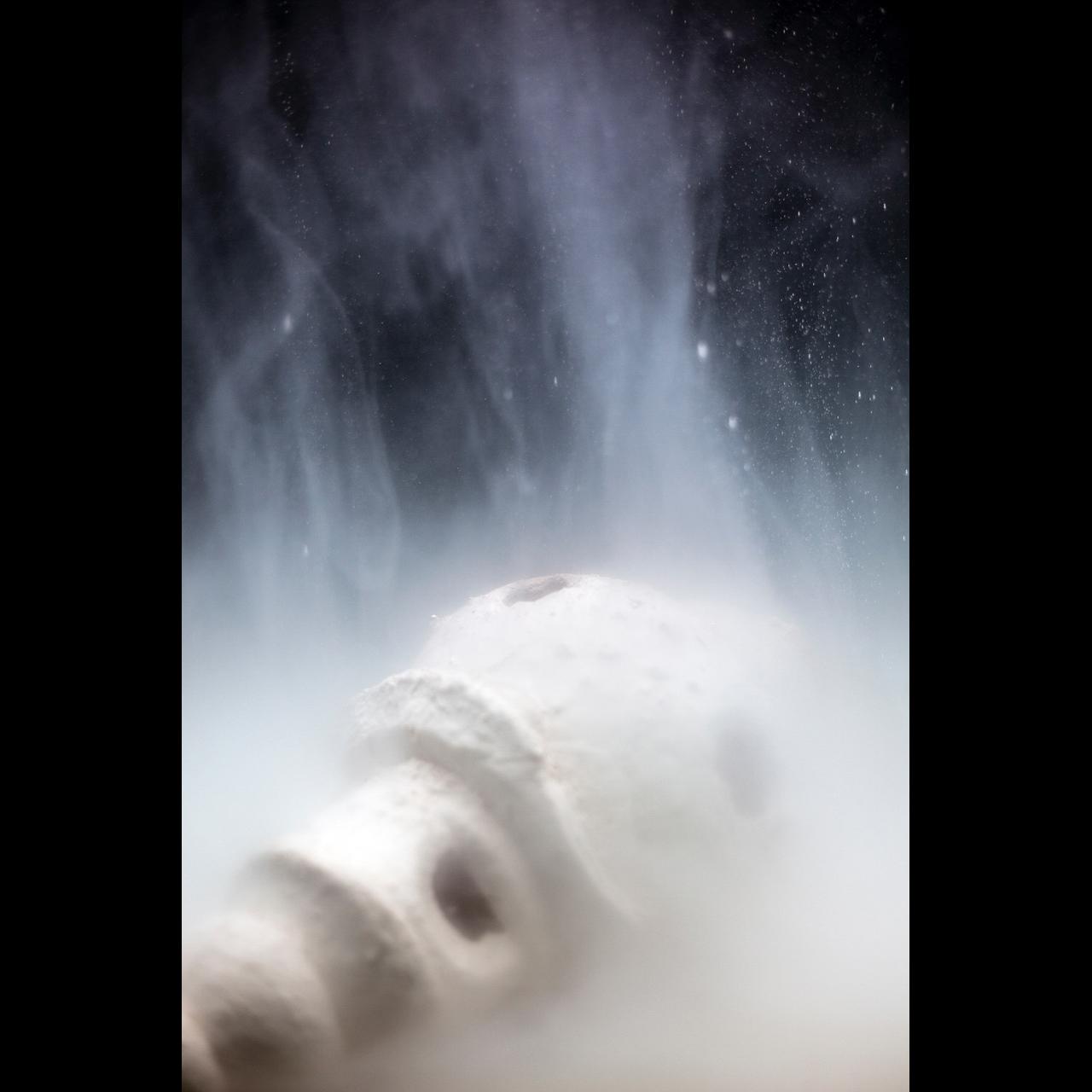 Cyrus Tang,  Stupa  (Still), 2017, 3 channel video in loop, 6.14 mins.