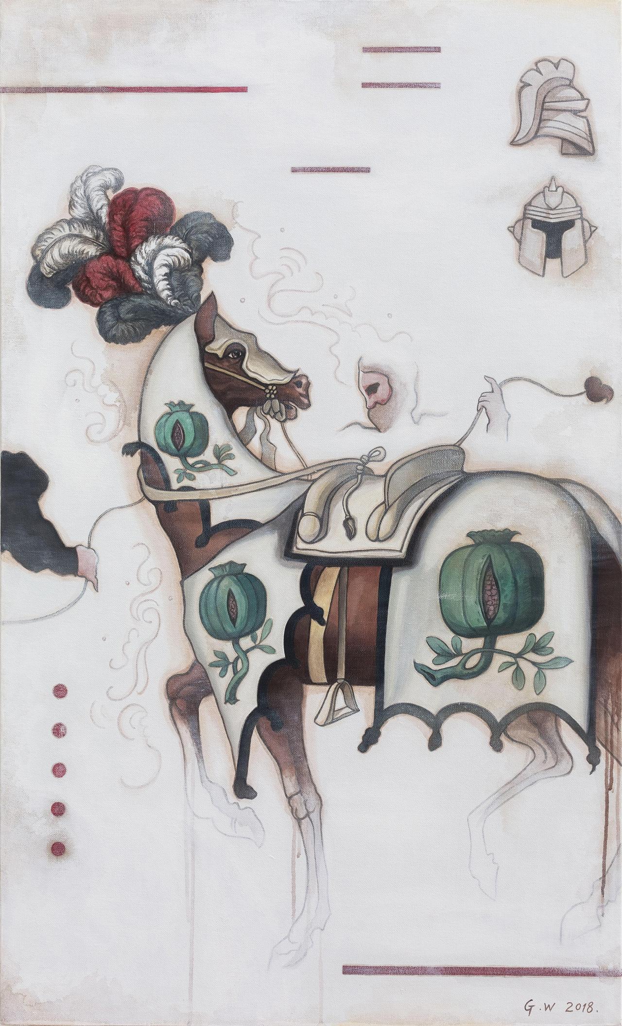 Guan Wei,  Chivalry No. 1 , 2018, acrylic on linen, 130 x 80cm.
