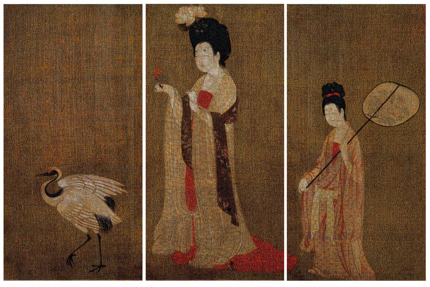 Guo Jian,  The Beauty No. 1,  inkjet pigment print (three panels), 200 x 300 cm.