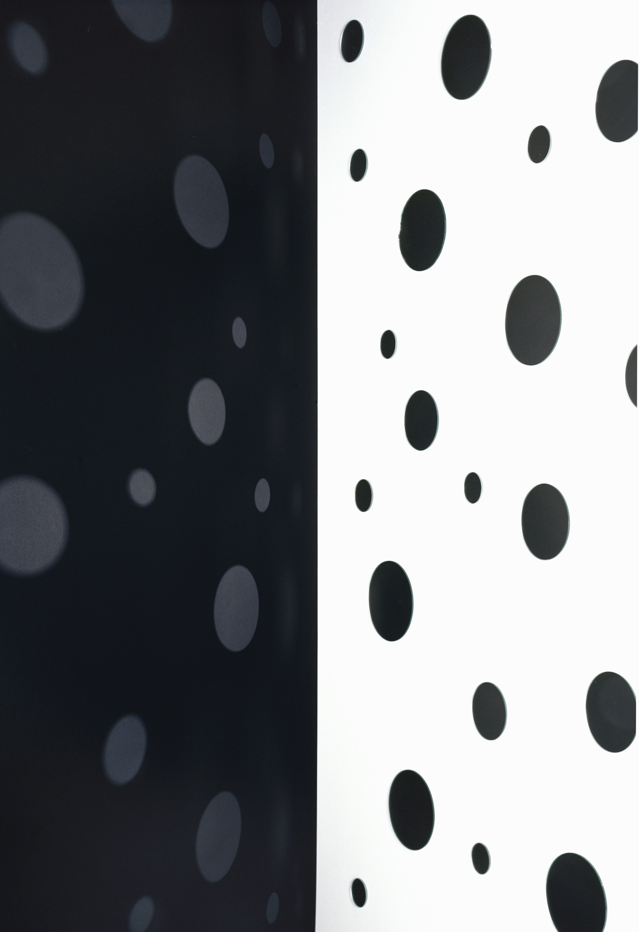 JACKY REDGATE   Light Throw (Mirrors) Fold - Black and White  2018 Chromogenic photograph handprinted 185 x 127 cm