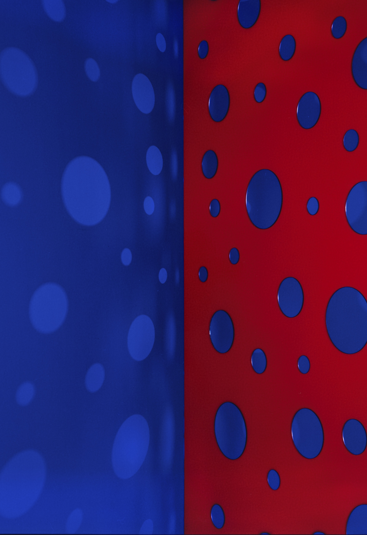 JACKY REDGATE   Light Throw (Mirrors) Fold - Blue-Purple and Red-Blue  2019 Chromogenic photograph handprinted 185 x 127 cm