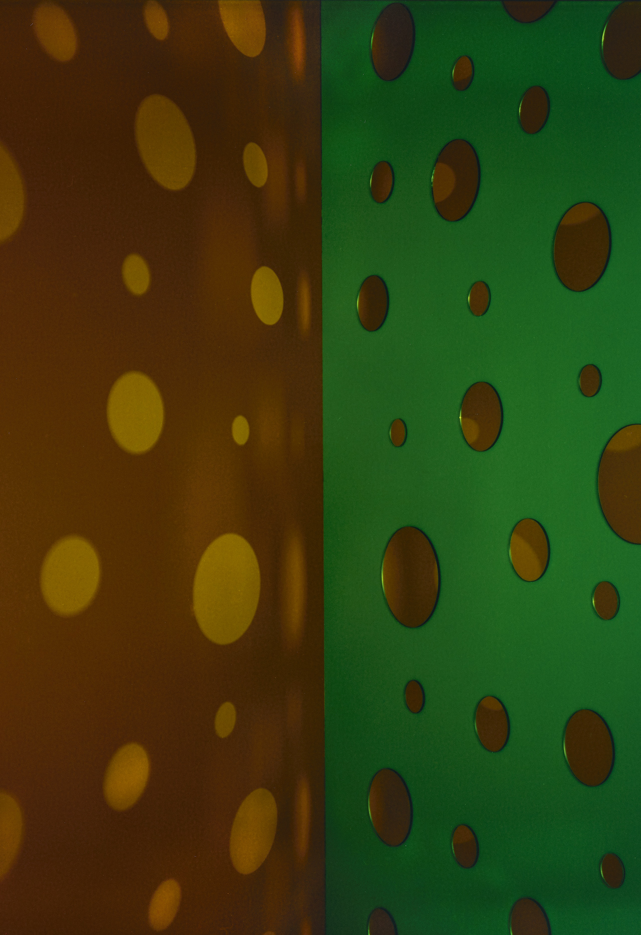 JACKY REDGATE   Light Throw (Mirrors) Fold - Yellow-Brown and Green  2018 Chromogenic photograph handprinted 185 x 127 cm
