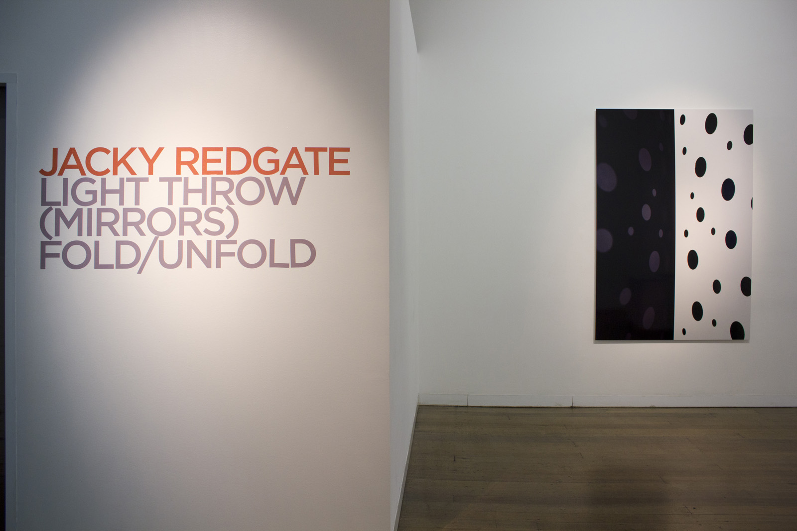 JACKY REDGATE   Light Throw (Mirrors) Fold/Unfold  2019 Install view