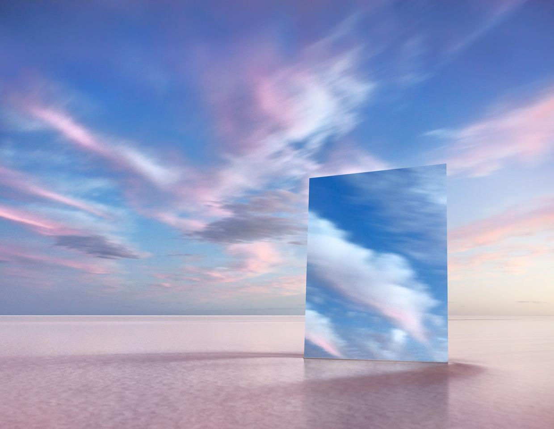 MURRAY FREDERICKS   Mirror 18  2017 Digital pigment print on cotton rag 120 x 155 cm