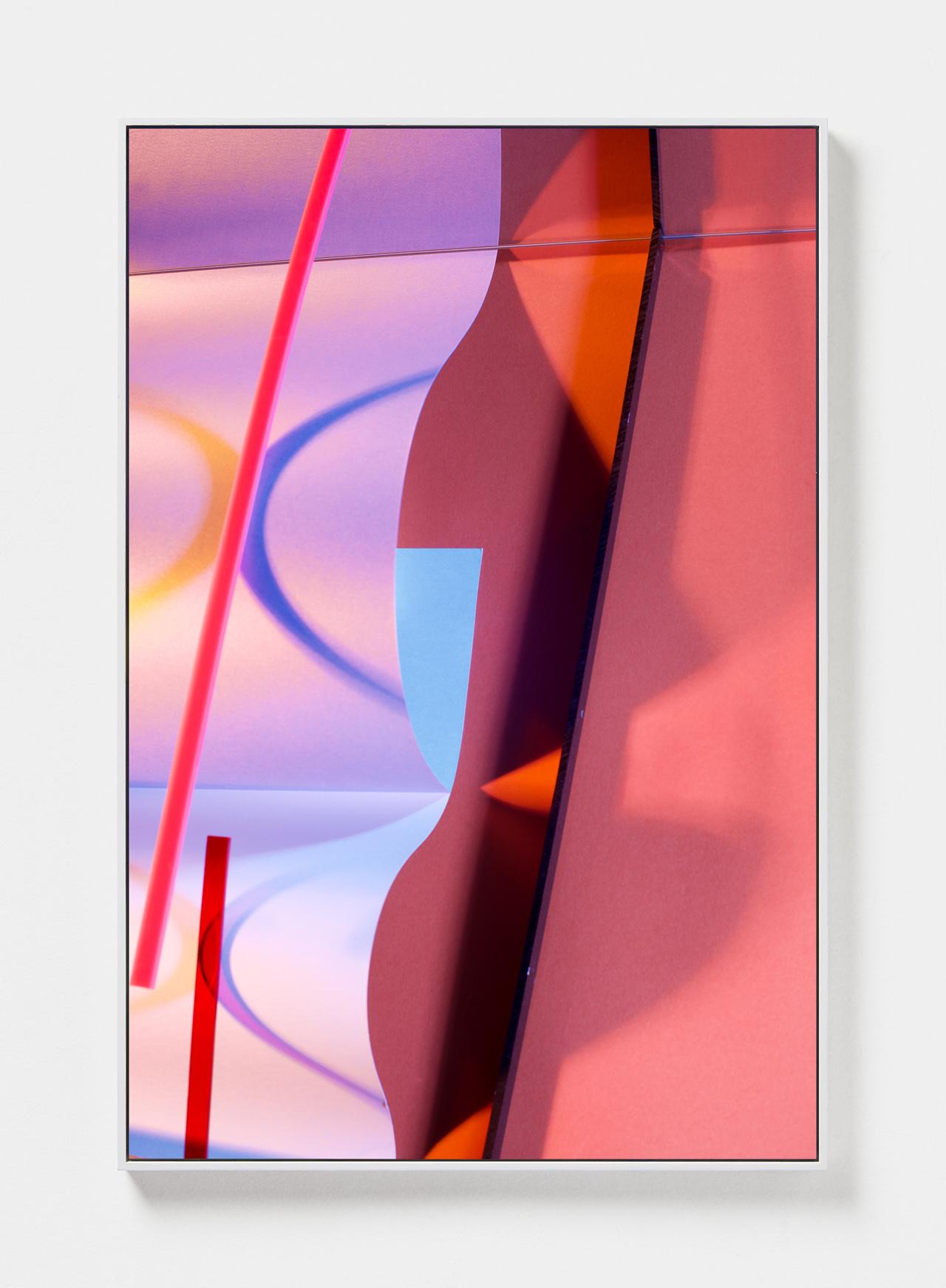 LYDIA WEGNER   Double Amber Wave  2019 Archival inkjet print, steel frame 120 x 80cm