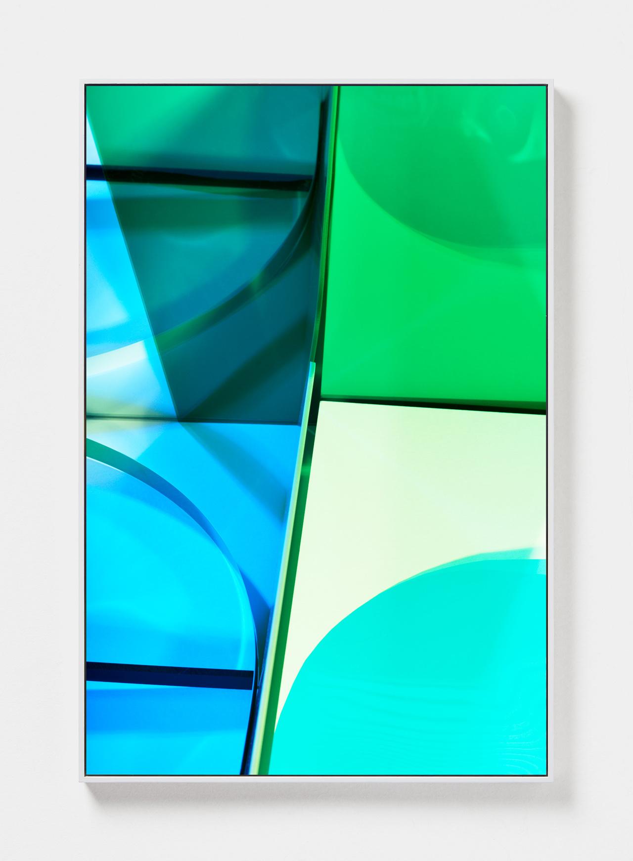 LYDIA WEGNER   Aqua Green  2019 Archival inkjet print, steel frame 120 x 80cm