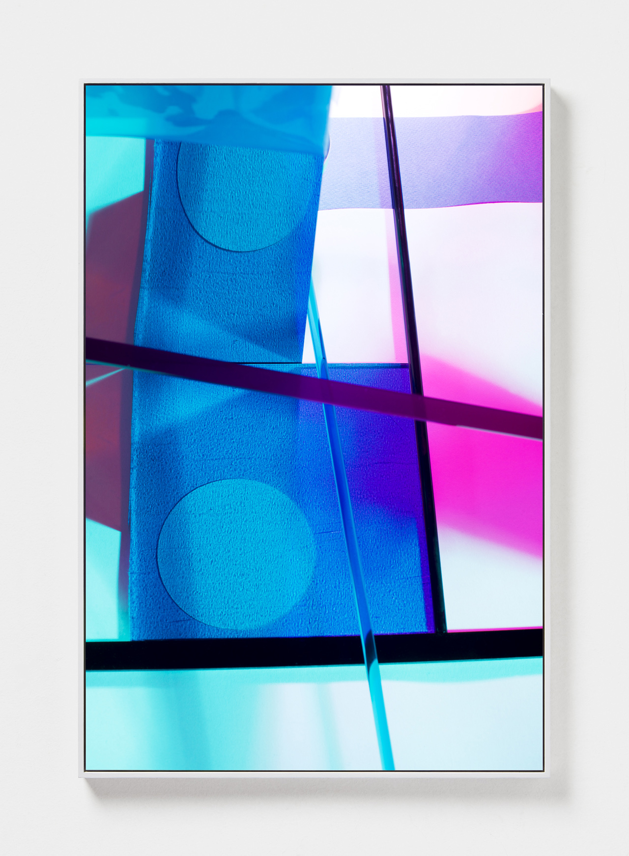 LYDIA WEGNER   Blue Cross Over  2019 Archival inkjet print, steel frame 120 x 80cm