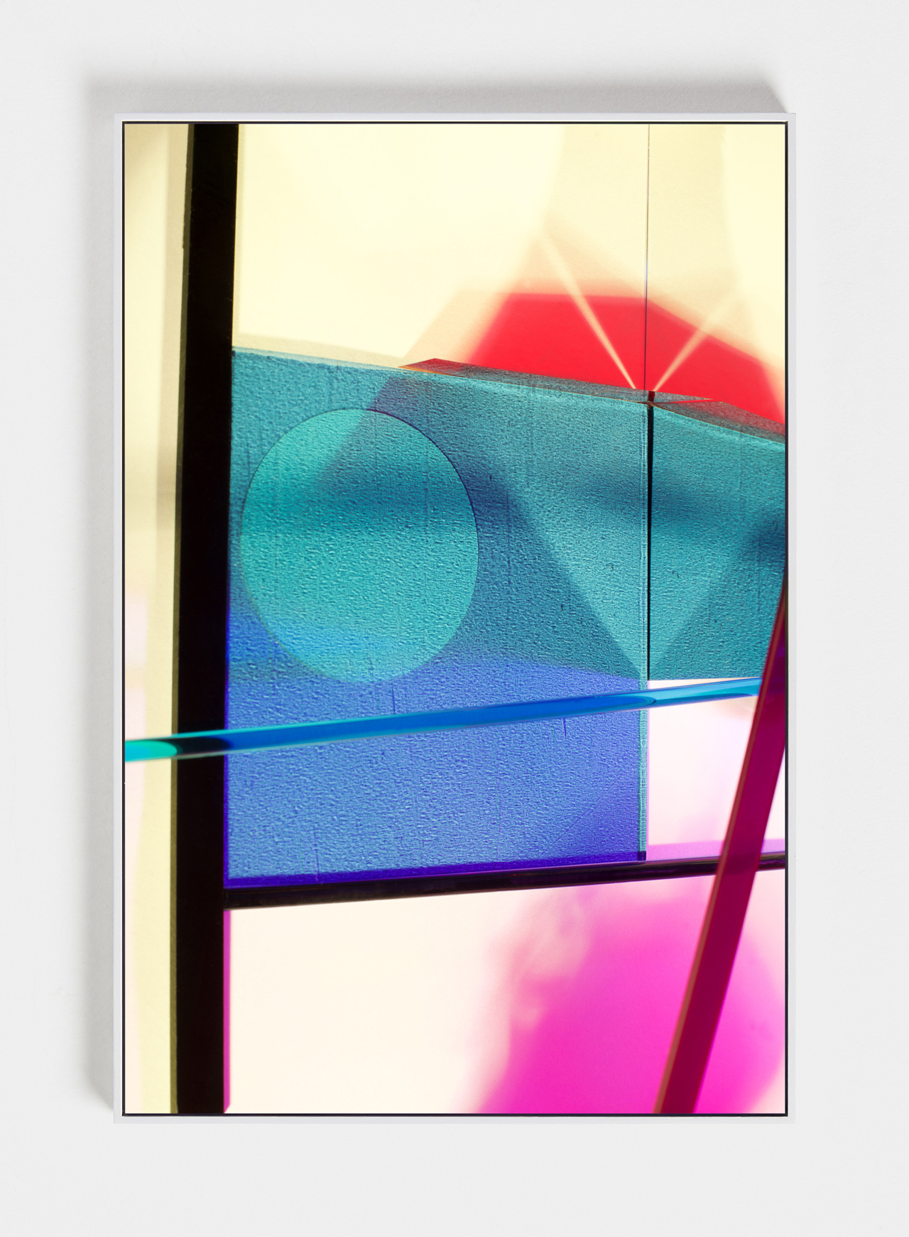 LYDIA WEGNER   Blue Cross Cast  2019 Archival inkjet print, steel frame 120 x 80cm