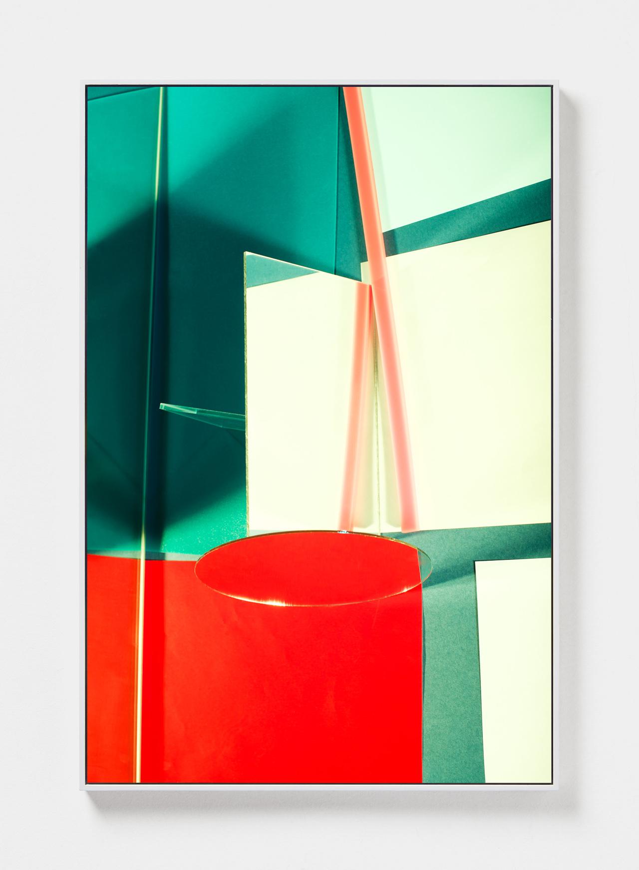 LYDIA WEGNER   Green Mirror  2019 Archival inkjet print, steel frame 120 x 80cm