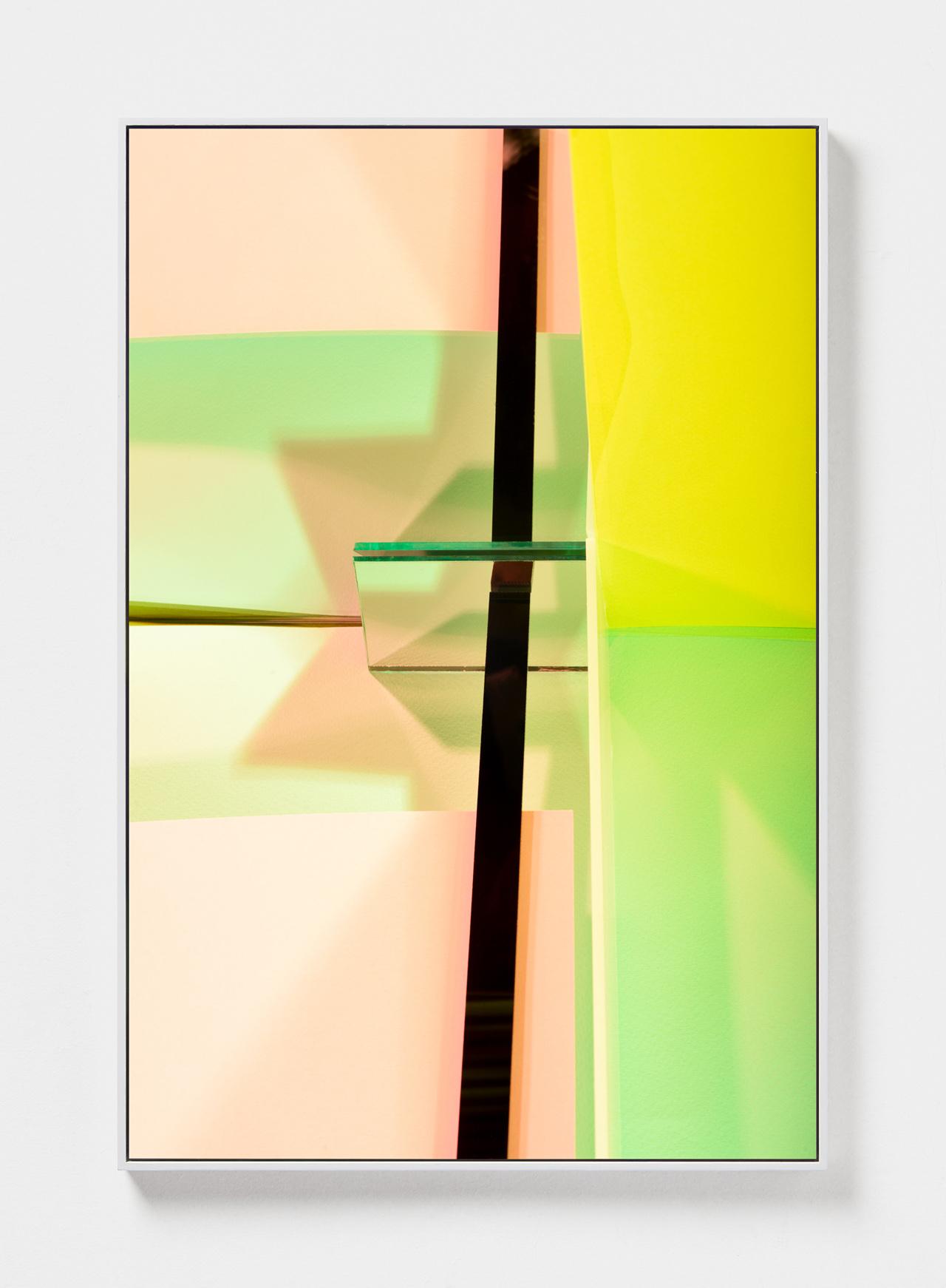 LYDIA WEGNER   Teal Slice  2019 Archival inkjet print, steel frame 120 x 80cm