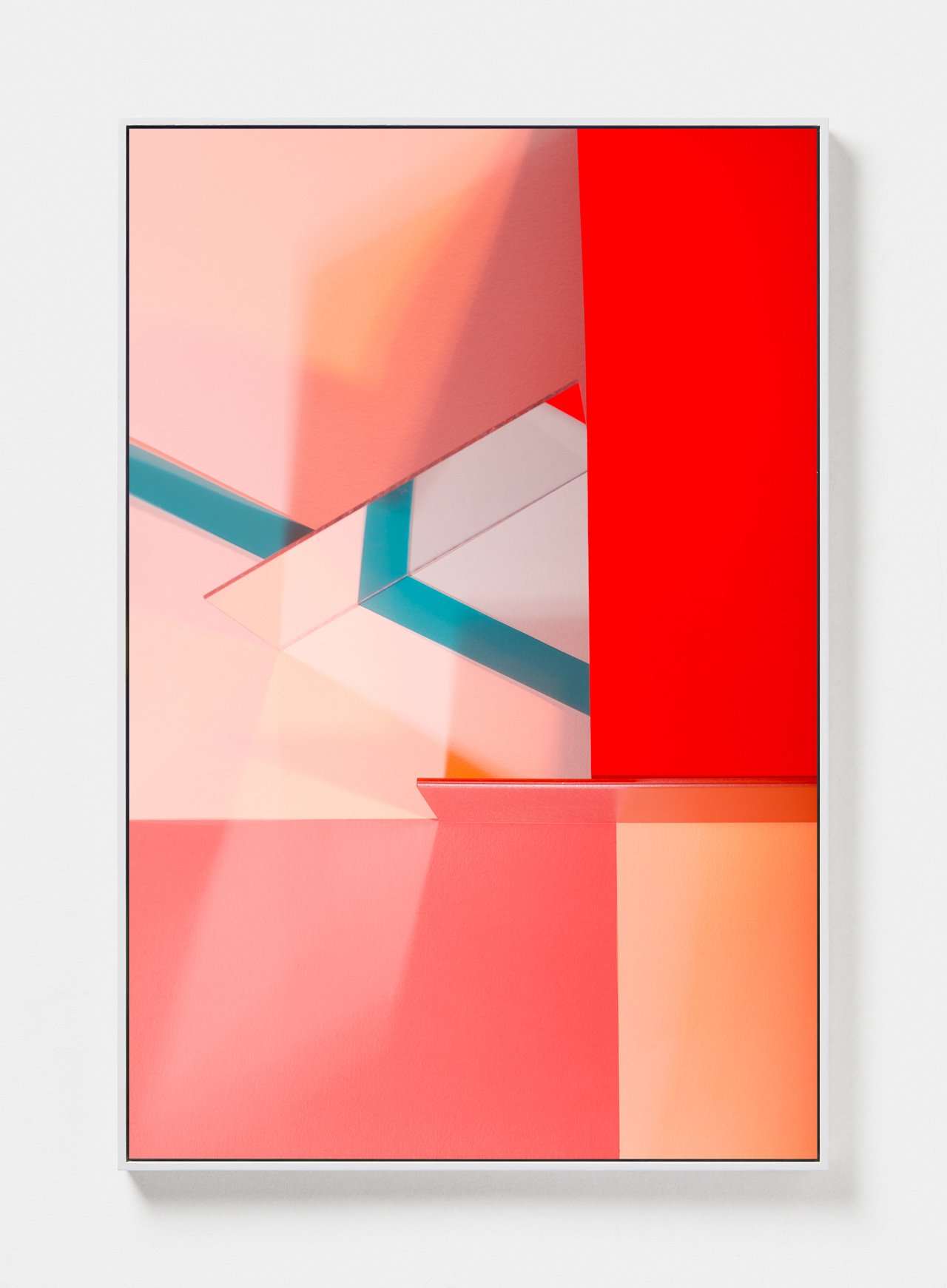 LYDIA WEGNER   Red Point  2019 Archival inkjet print, steel frame 120 x 80cm