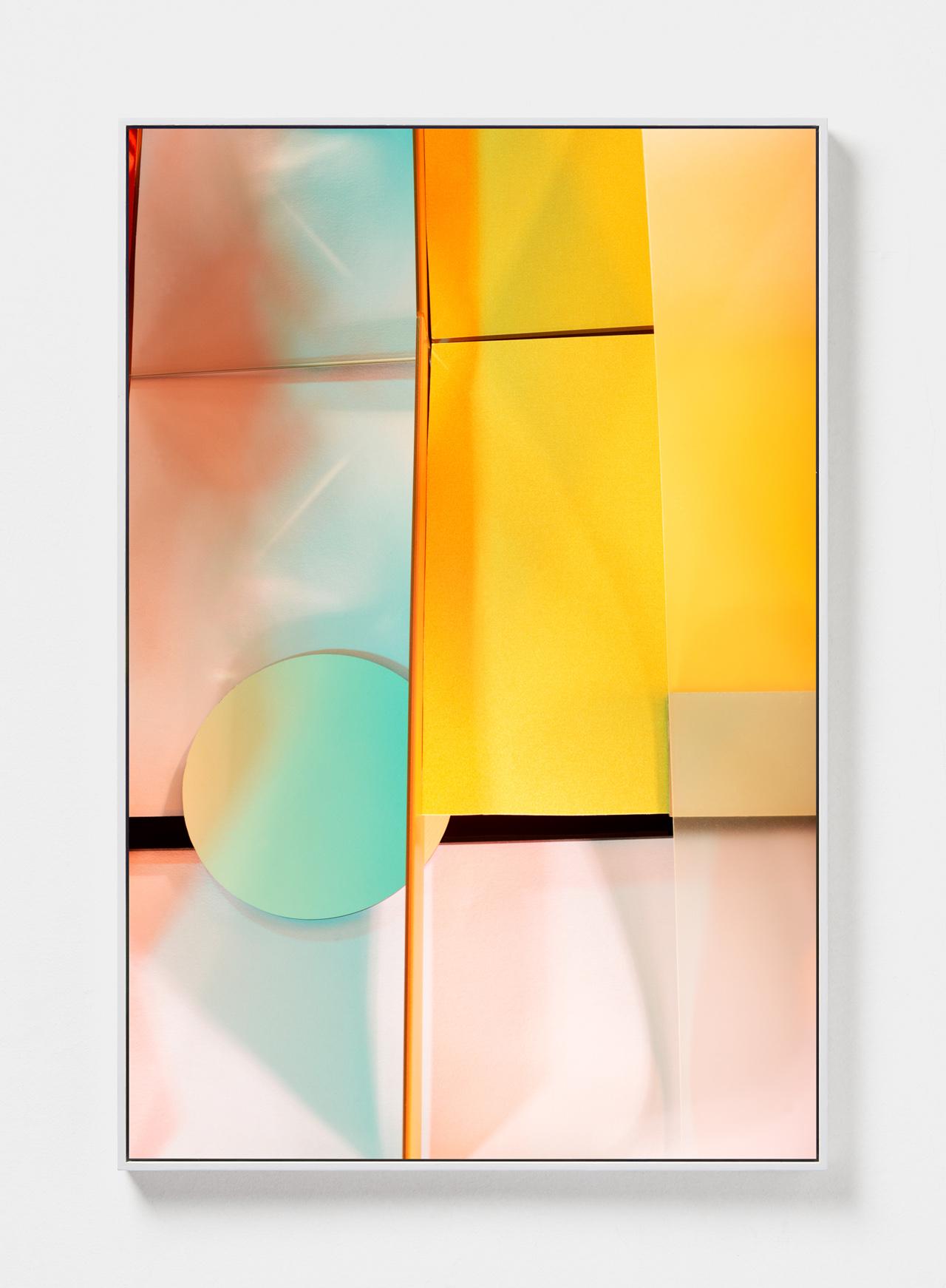 LYDIA WEGNER   Yellow Corner  2019 Archival inkjet print, steel frame 120 x 80cm
