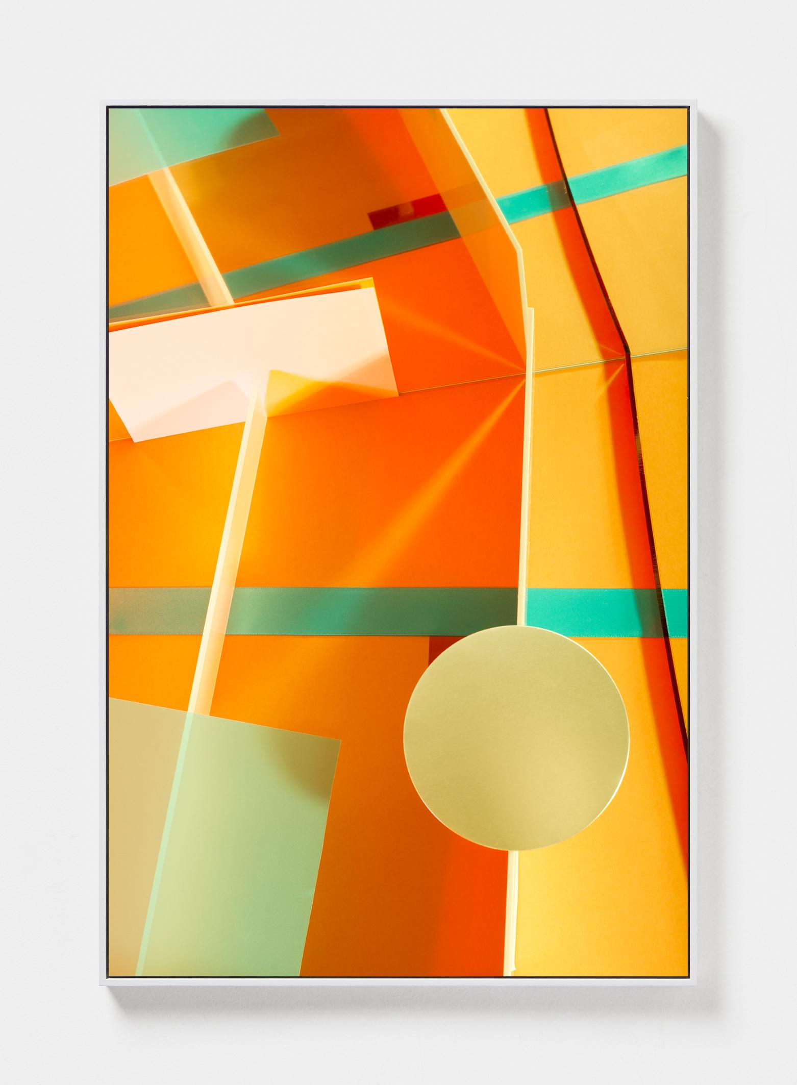Lydia Wegner,  Orange Push , 2019, archival inkjet print, steel frame, 120 x 80 cm.