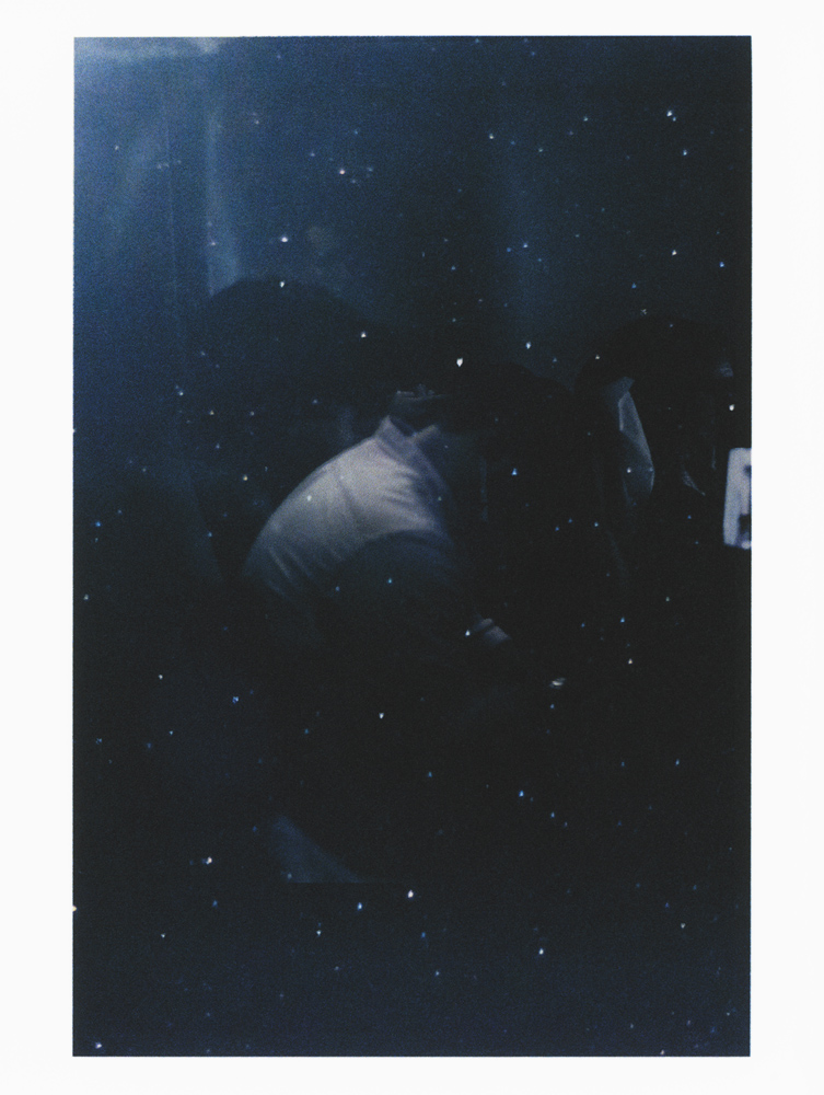 SAM SHMITH   Untitled (figure, glass, stars)  2019 Pigment print on paper Sheet: 48.8 x 36.7 cm