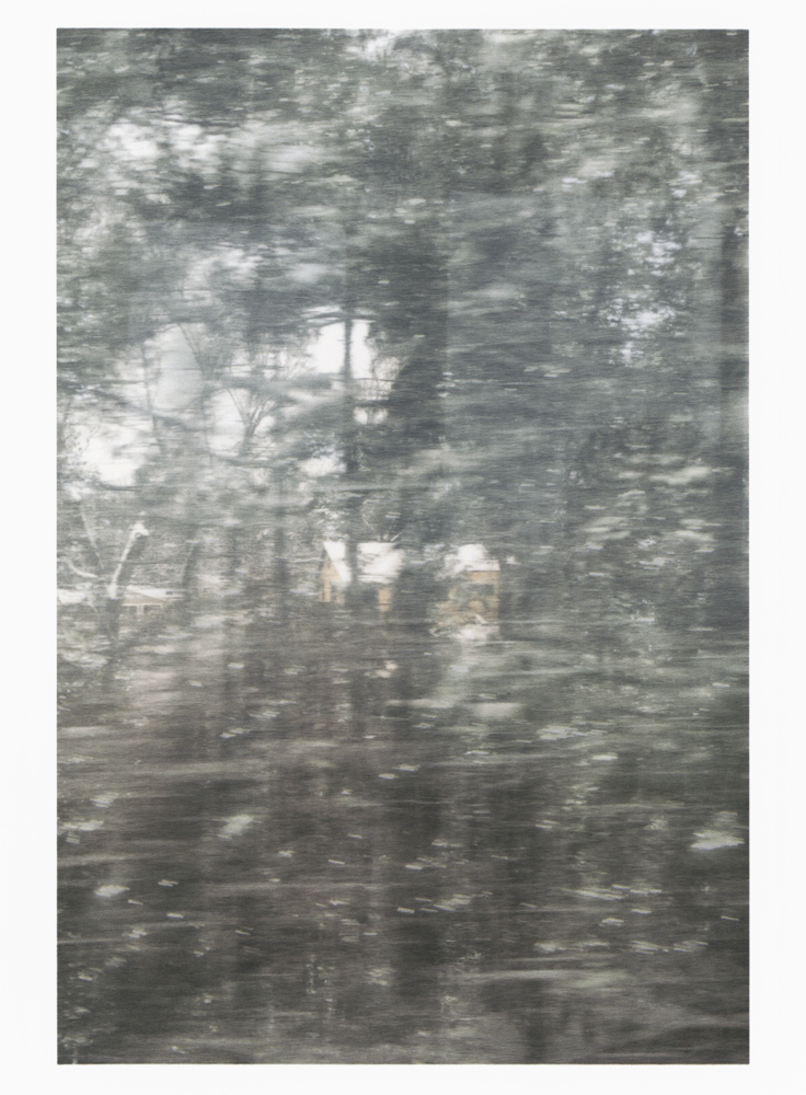 SAM SHMITH   Untitled (glass, forest, house)  2019 Pigment print on paper Sheet: 98.71 x 72 cm