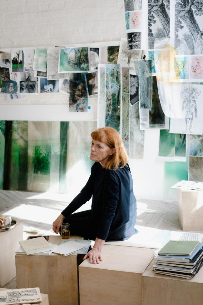 Janet Laurence, photographed in her studio by Jacquie Manning.