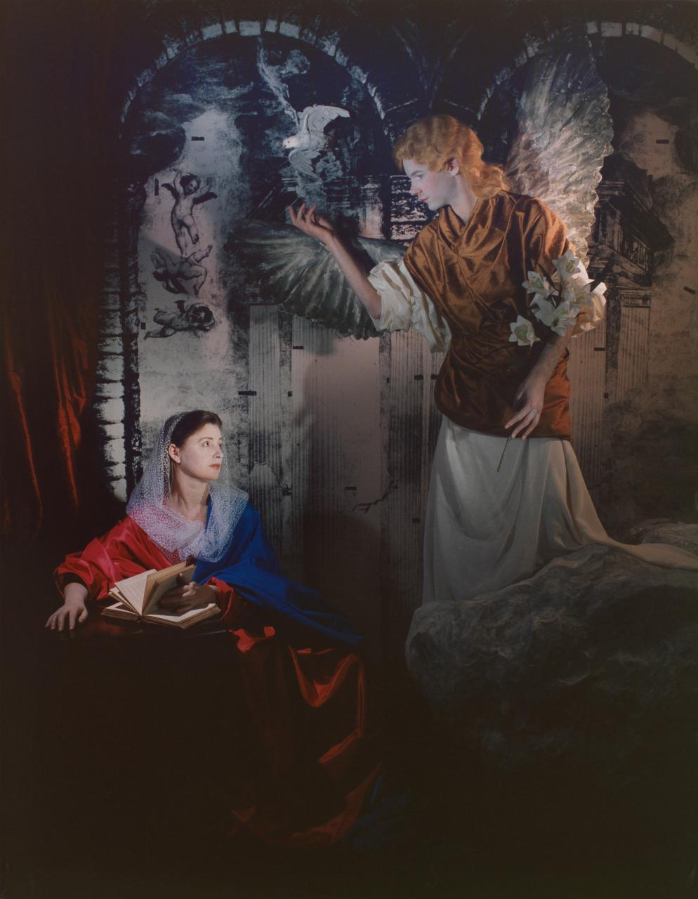 """ROSE FARRELL & GEORGE PARKIN   Repentance """"The Annunciation""""  1988 Type C Photograph 164 x 127 cm"""