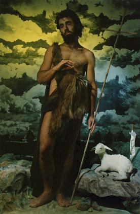 "ROSE FARRELL & GEORGE PARKIN   Repentance ""Saint John the Baptist""  1988 Type C Photograph 136 x 87 cm"