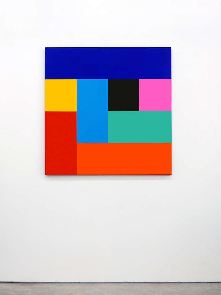 Robert Owen,  Origami #8 , 1992, acrylic on canvas, 122 x 122 cm