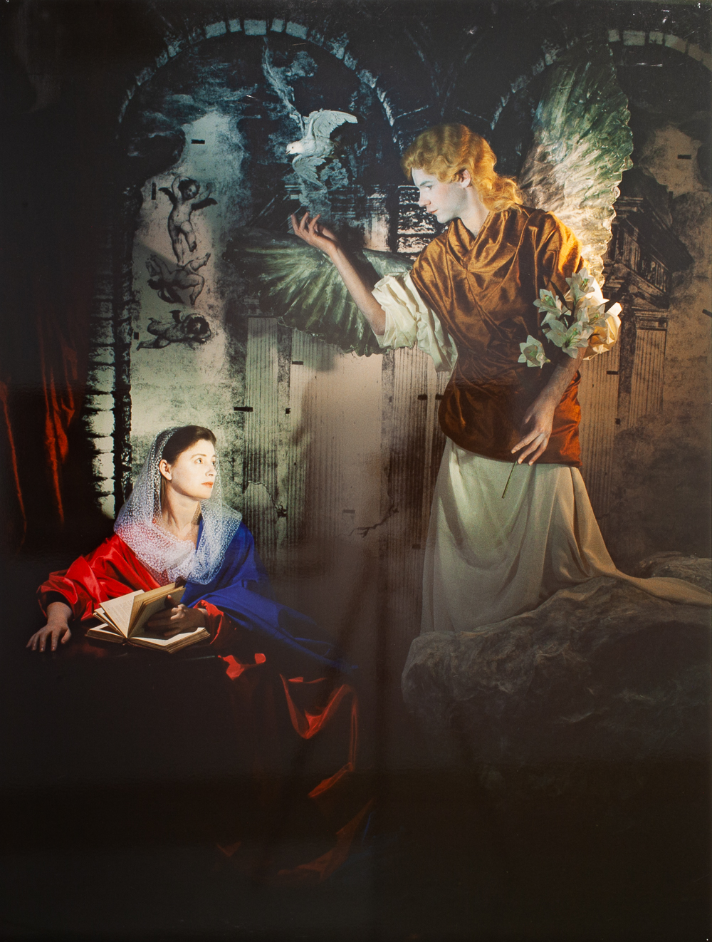 Farrell & Parkin,  The Annunciation  from the series  Repentance,  1988, Type C Photograph, 166 x 128 cm.