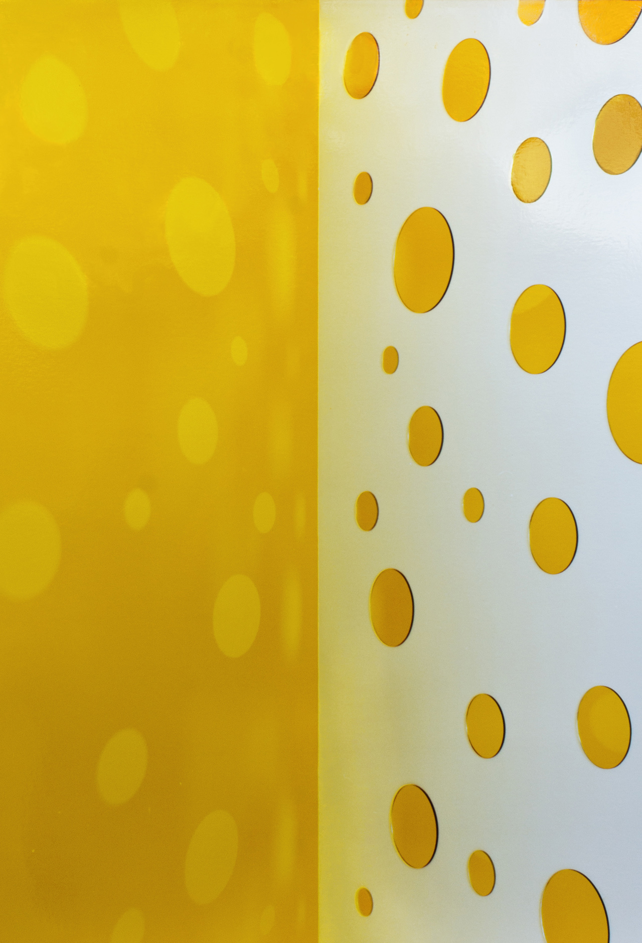 JACKY REDGATE   Light Throw (Mirrors) Fold - Yellow and White  2018 Chromogenic photograph handprinted 185 x 127 cm
