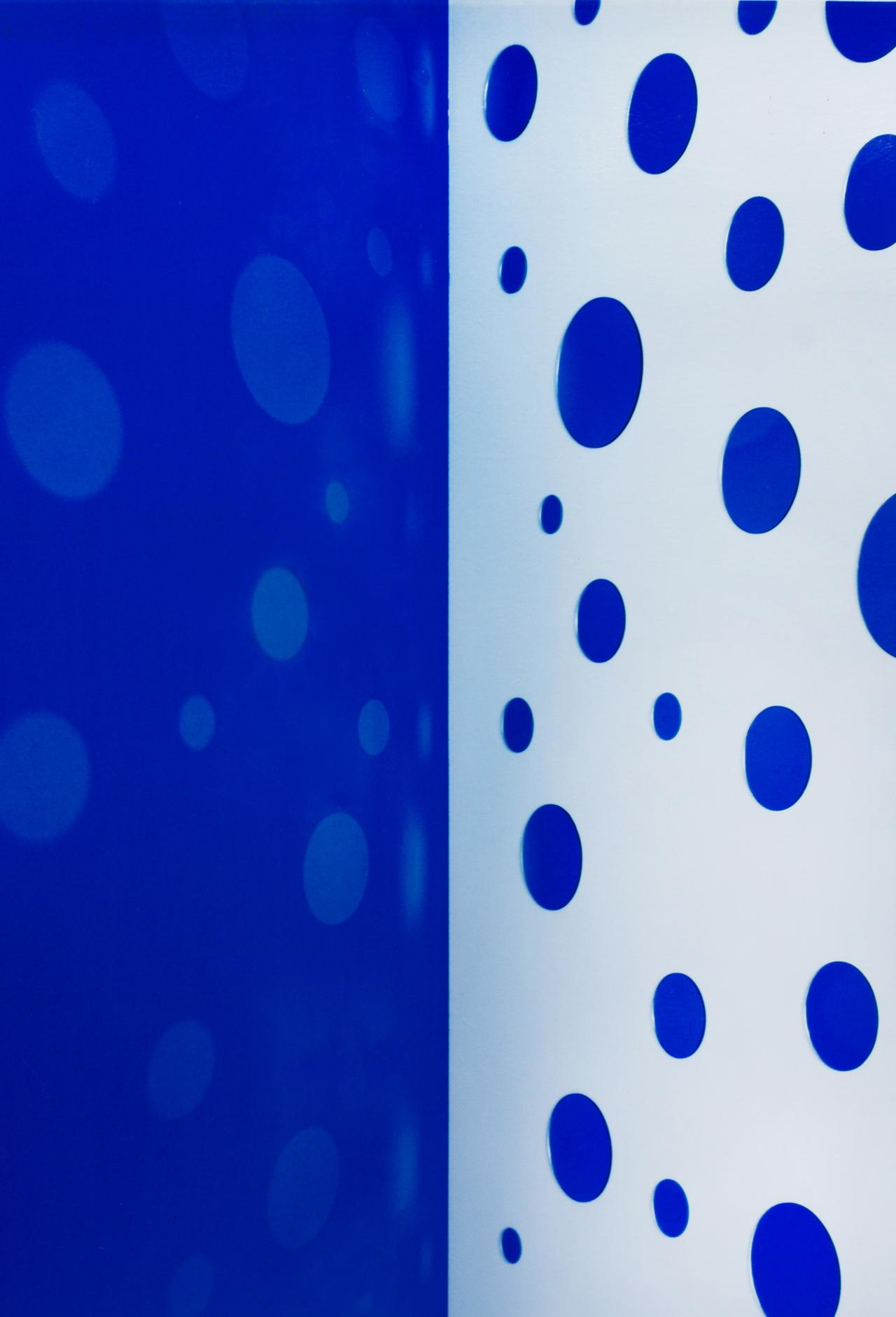 JACKY REDGATE   Light Throw (Mirrors) Fold - Blue and White  2019 Chromogenic photograph handprinted 185 x 127 cm