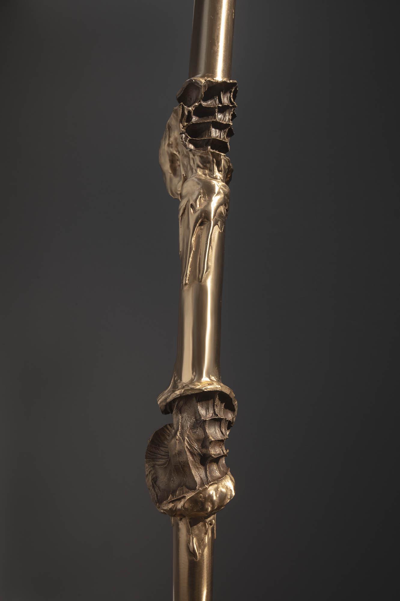 "JULIE RRAP  ""Power Climber"" Lance  [detail] ,  2019 Bronze, edition of 3 389 x 8 x 8 cm Photograph by John Gollings"