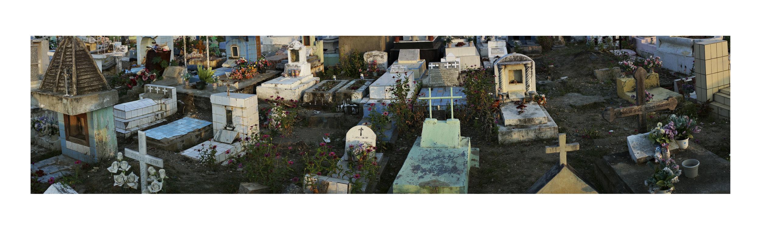 LYNDELL BROWN AND CHARLES GREEN   Santa Cruz, Dusk 2  2018 Digital Photograph on Rag Paper, Framed 87 x 290 cm