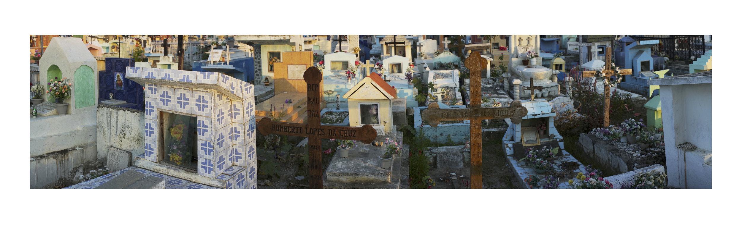 LYNDELL BROWN AND CHARLES GREEN   Santa Cruz, Dusk 3  2018 Digital Photograph on Rag Paper, Framed 87 x 290 cm