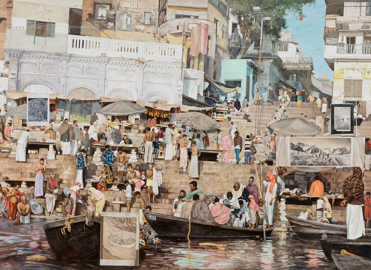 LYNDELL BROWN AND CHARLES GREEN   The Crossing  2019 Oil on Linen 180 x 260 cm