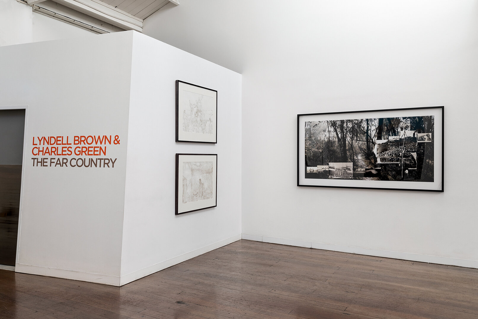 LYNDELL BROWN AND CHARLES GREEN   The Far Country  Installation view 2019 Photo: Andrew Curtis
