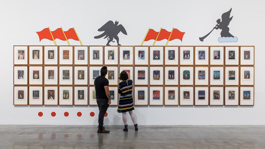 Guan Wei,  Two-finger exercise  (detail), 1989–90. Installation view,  Guan Wei: MCA Collection , Museum of Contemporary Art Australia, Sydney, 2019