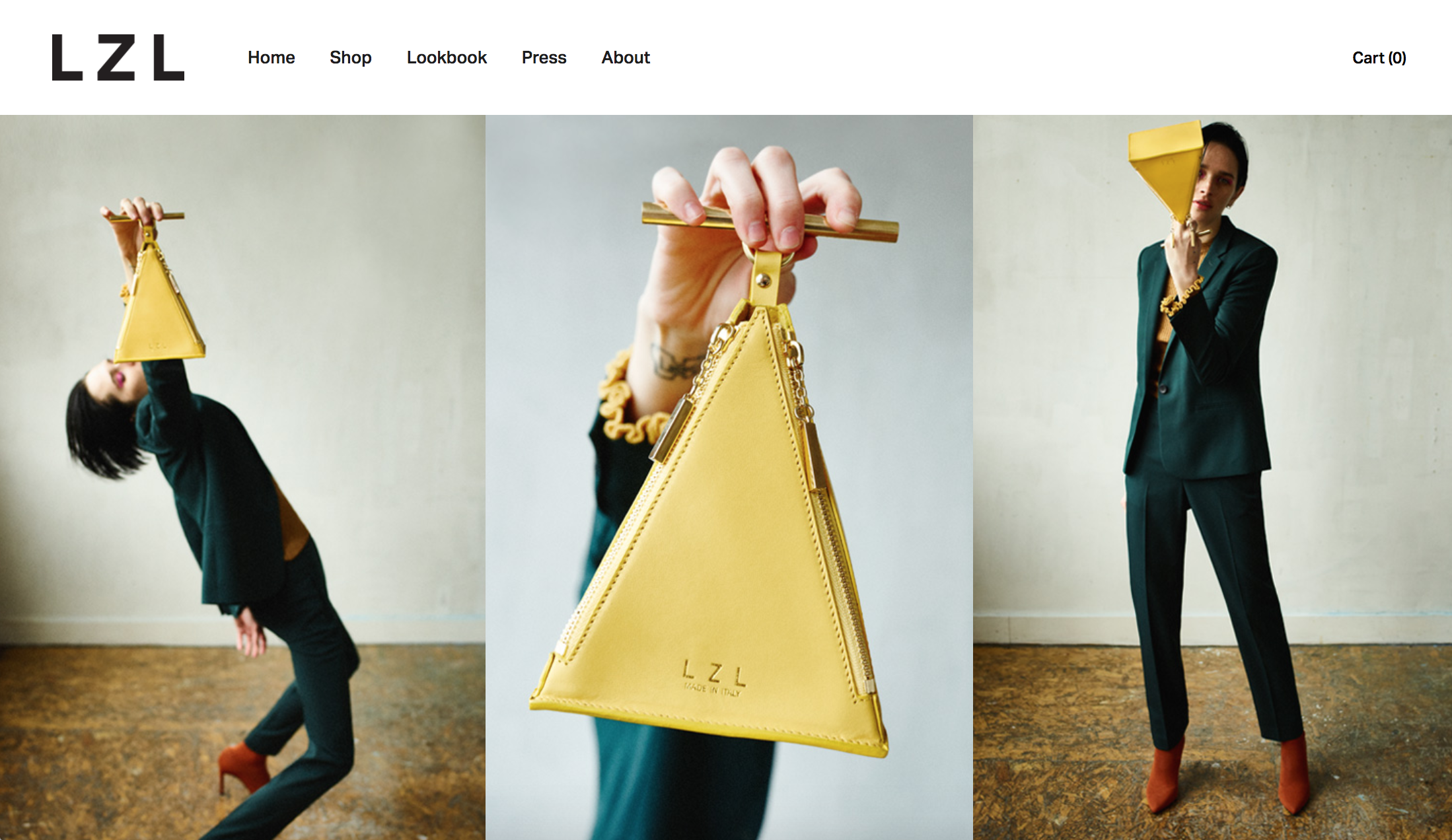 LZL handbags home page image